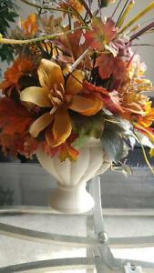 Artificial flower arrangement in a ceramic urn Kitchener / Waterloo Kitchener Area image 2