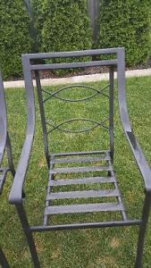 Black patio chairs with cushions Cambridge Kitchener Area image 1