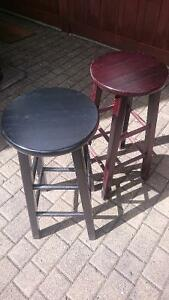 Wood Bar Stools - Lot of 10 Black
