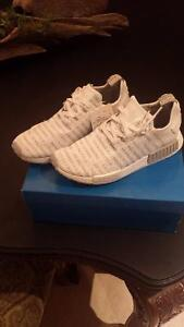 "NMD R1 ""The Brand With the Three Stripes"" WHITE SIZE 11 US"