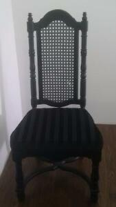 Antique High Back Cane Dining Chair