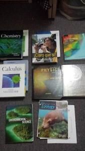 First year textbooks (mostly first year science texts)