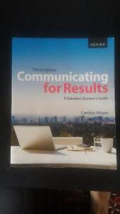 Communicating for Results - Ryerson CMN 279 textbook
