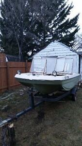 1980 tri bow 35hp with trailor