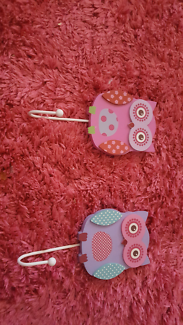 Pink & Purple Owl Wall Hooks