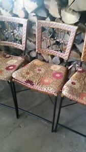 PIER 1 IMPORTS WICKER LOVE SEAT CHAIRS AND BAR STOOLS