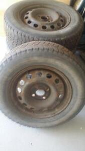 Winter Steel rims and tires  for winter Kitchener / Waterloo Kitchener Area image 3