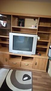 Sony TV 34inches with entertainment center