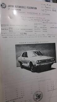 Datsun GC110 240K Jap Racing Specs  Melb Glen Waverley Monash Area Preview