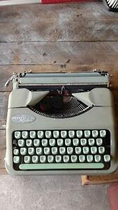 Antique portable typewriter