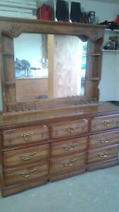 2 dresser in antique solid wood Strathcona County Edmonton Area image 1