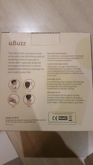 Osim uBuzz hand held vibrating massager (scalp + foot) NEW
