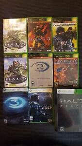 Bunch of Halo games and a Counterstrike game