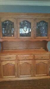 Solid oak buffet and hutch St. John's Newfoundland image 2