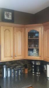 Solid oak cabinet doors and drawer fronts