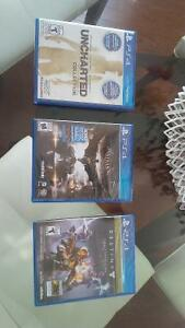 3 Brand New Unopened Games in Package - PS4