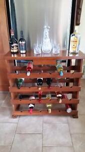 Handmade Wood Wine Rack