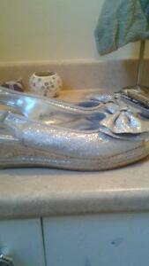 silver shoes  NEW PRICE