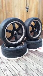 17inch Universal OZrims and Dunlop tires Cambridge Kitchener Area image 2
