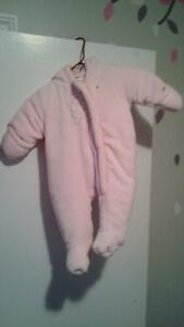 Brand new girls fleece snowsuit