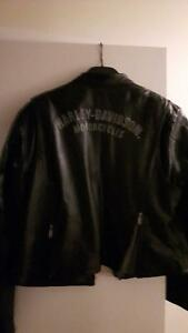 Harley Davidson women's black leather riding jacket