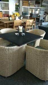 Gorgeous hand tied wicker dinette