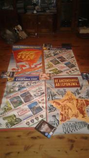 8 vintage USSR posters