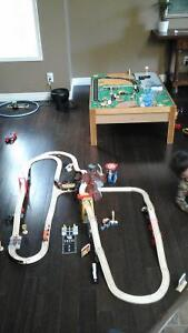 Kidkraft table and twooden train set