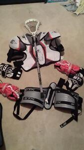 Lacrosse equipment with stick