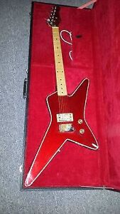 Rare Red Crazy Shaped Electric Guitar West Island Greater Montréal image 1
