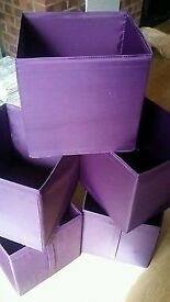 12 STORAGE BOXES GREEN AND PURPLE