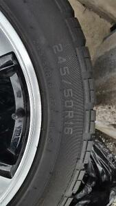 Like New Rims and Tires Great Deal 5 bolt pattern Sarnia Sarnia Area image 2