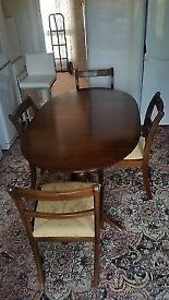 Teak Dining Table & x4 Chairs