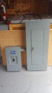 Square D 200amp Service Panel with Breakers