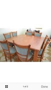 Square dining table & 8 chais Bunglegumbie Dubbo Area Preview