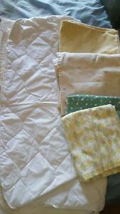 Crib mattress cover and change pads