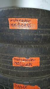 2 USED MOTOMASTER SE2 TIRES 185/60R15