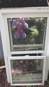 Two 30 by 50 single hung windows