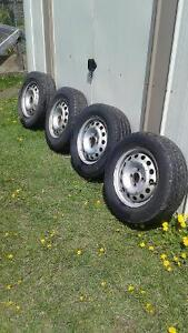 factory honda civic steel wheels / tires 4x100