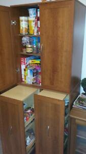 2 kitchen pantry units good condition