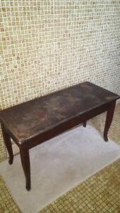 Antique piano bench