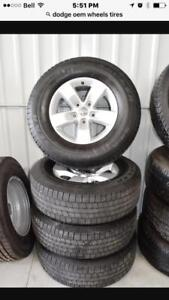 "CALGARY TRAX 0000 2017 DODGE 1500 17"" RIMS AND TIRES NEW TAKE OFFS TAKEOFFS $800  set INCLUDED TPMS SENSORS"