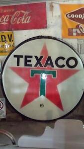 Vintage 1960's Texaco sign 6 ft. diameter