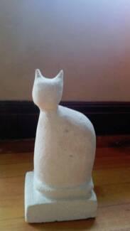 Cat Sculpture in Limestone