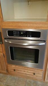 """27"""" stainless steel convection wall oven"""