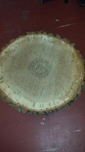 ONLY 3 LEFT Round, Raw, Oak Wood Slabs 14 inch round $40.00 each Kitchener / Waterloo Kitchener Area image 2