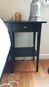 2x Wood Bedside tables - new (IKEA) - $120