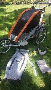 kids single chariot with all accessoried