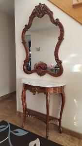 Console et mirroir