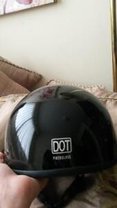 DOTS fiber glass helmet. Motorcycle. Worn twice